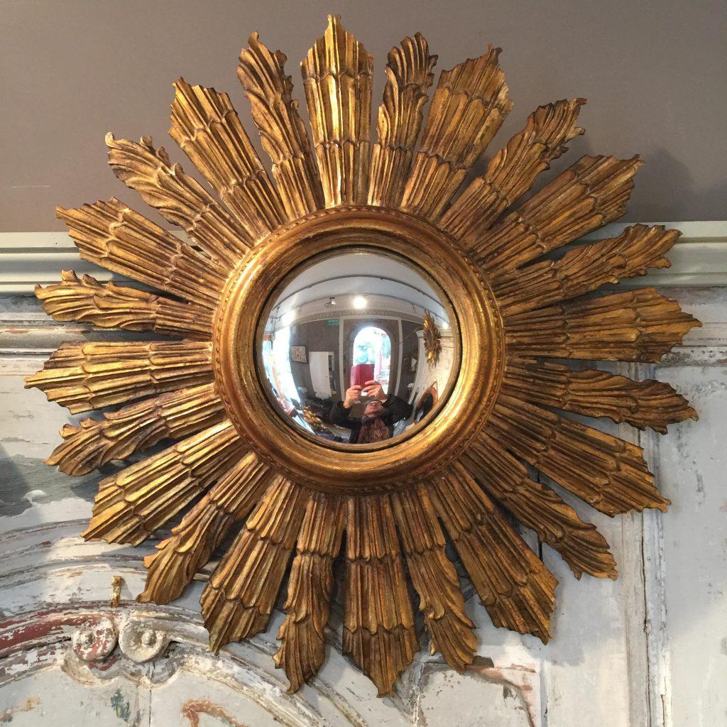 Miroir sorci re et soleil r mi dubois antiquit s for Miroir soleil sorciere