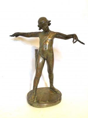 Bronze représentant Cupidon signé À. CLEMENCIN.