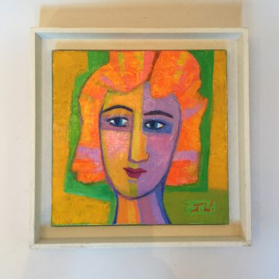 Portrait de femme du peintre France Wagner.