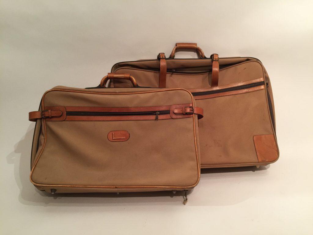 Deux sacs- valises de la marque LANCEL.
