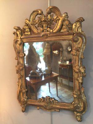 Miroir provençal d'époque XVIII ème siècle.
