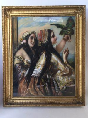 Pastel orientaliste d'époque Napoléon III.
