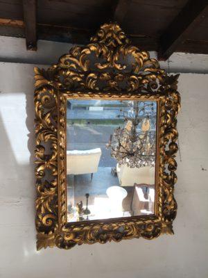 Miroir en bois doré d'époque Napoléon III.