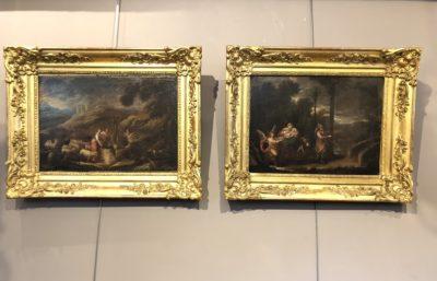 Trois tableaux d'époque fin XVII ème siècle.