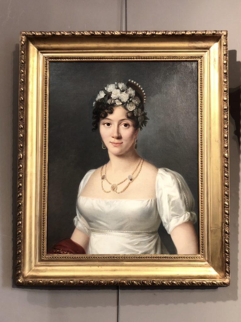 Portrait d'un femme d'époque Empire.