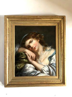 Portrait d'époque début du XIX éme siècle.
