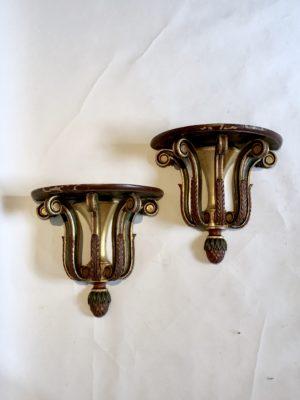 Paire de console d'applique d'époque XVIII éme siècle.
