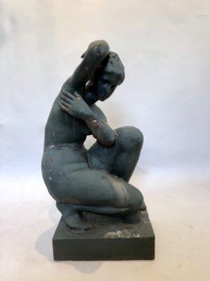 Statue en fonte de Diane pour jardin.