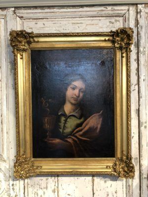 Portrait d'un saint du XVIII éme siècle.