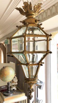 Lanterne en bronze doré d'époque du XX éme siècle