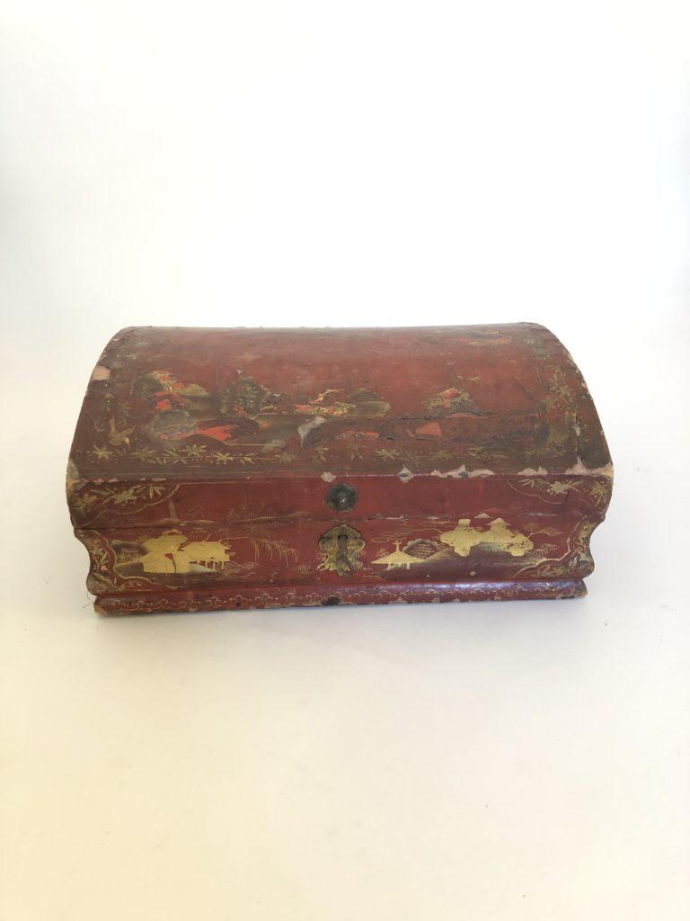 Boîte à perruque d'époque du XVIII éme siècle.