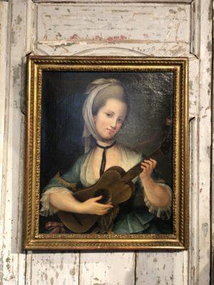 Portrait de jeune femme XVIII éme siècle.