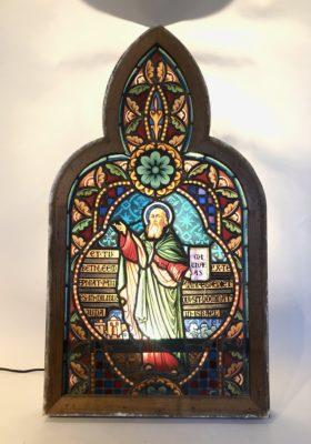 Vitrail de saint Michael d'époque fin XIX éme siècle.