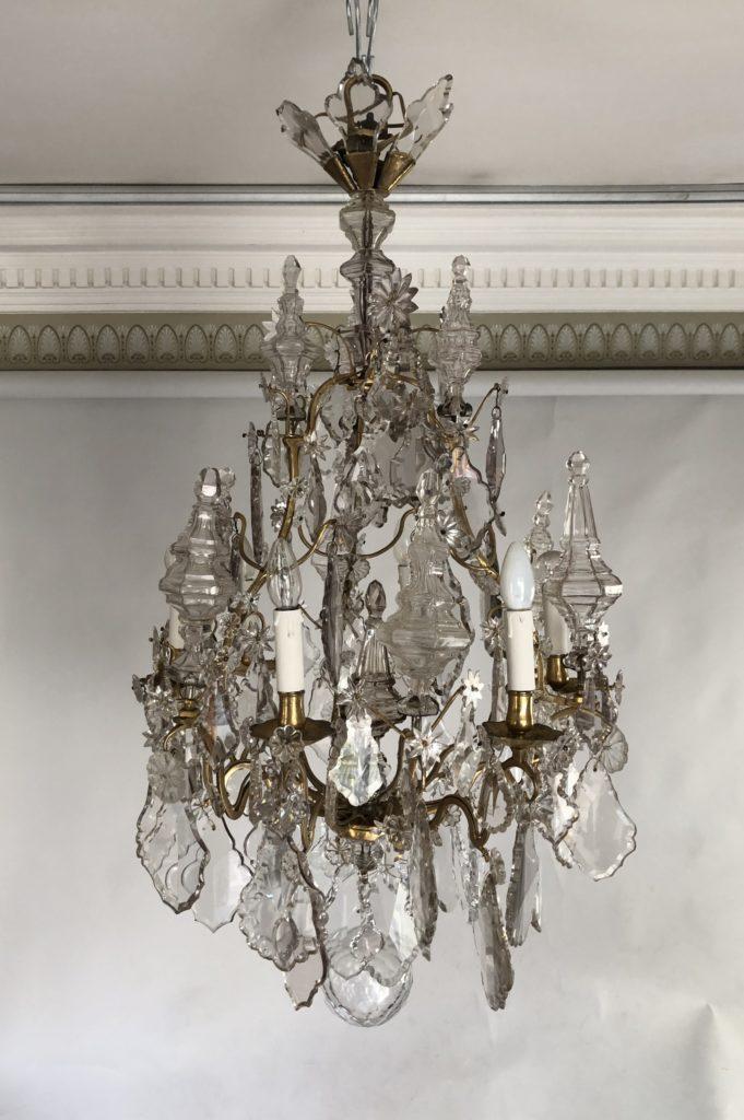 Lustre cage d'époque Louis XV.