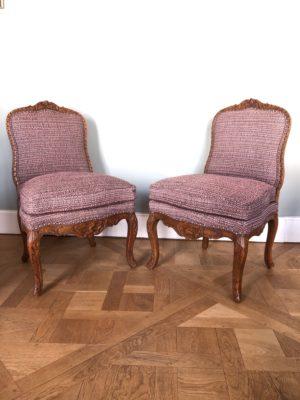 Paire de chaise d'époque Régence.