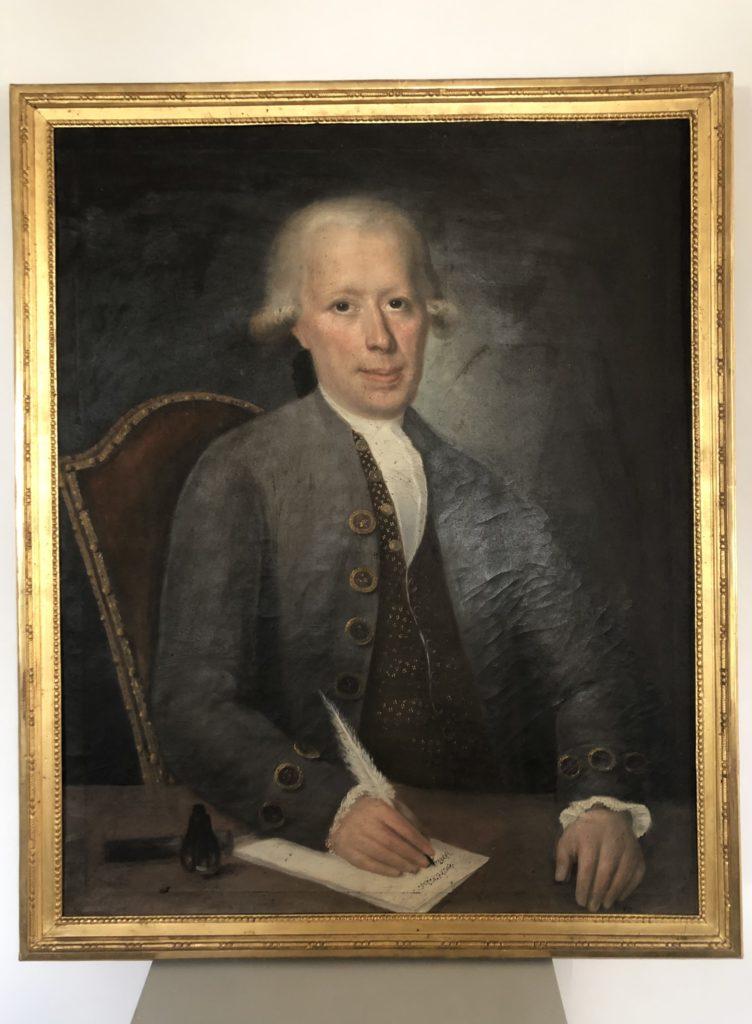 Portrait d'un homme du XVIII éme siècle.